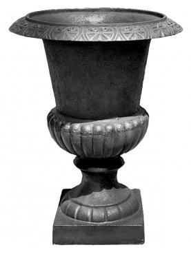 unpainted black vase