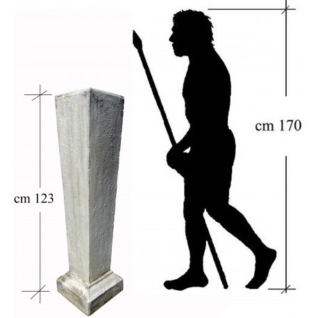Concrete base for herm or bust H 123 cm