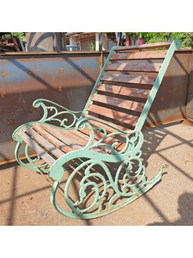 ORIGINAL BENCH OF THE 900 IN CAST IRON AND WOOD