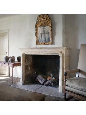 France fireplace frame - limestone