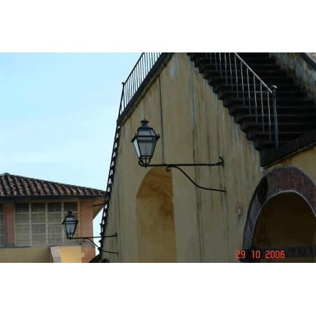 Forged Iron brackets and lanterns