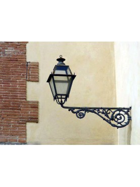 Lantern with cast-iron bracket