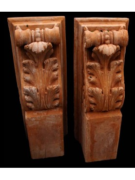 Large terracotta brackets
