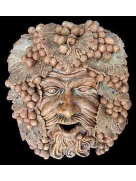 BACCHUS MASK in terracotta