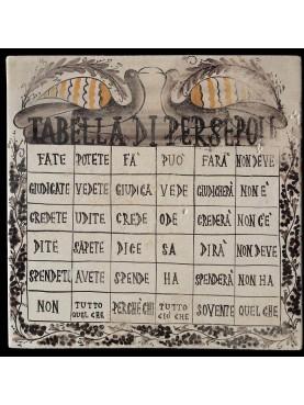 The Table of Persepoli on majolica tile