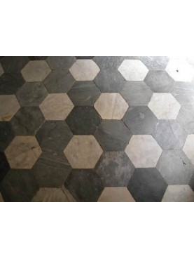 Hexagonal marble floor