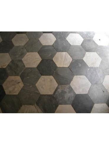Hexagonal marble floor