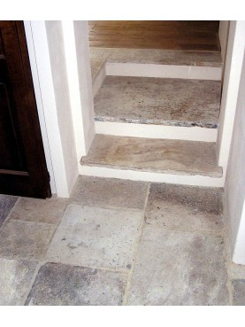 Floor and Steps in Limestone