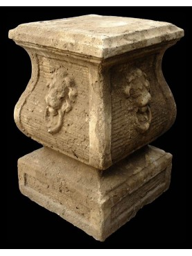 Cement base for vases and statue H.53cms/33x33cms