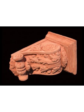 Small terracotta bracket