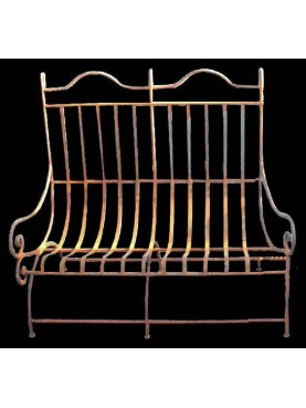 Relaxing settee iron bench with 2 seats