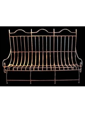 Relaxing settee iron bench with 32 seats