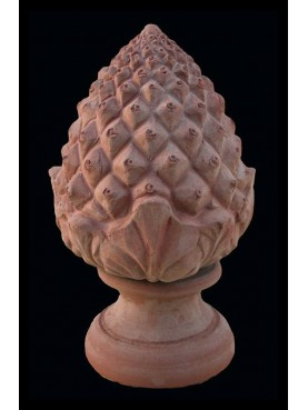 Terracotta pine cones big size H.50cms