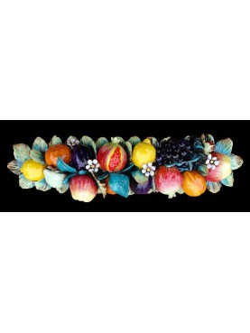 Majolica fruits festoon garland