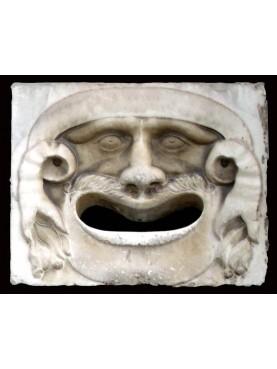 Mascherone in bianco Carrara