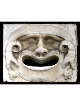 White Carrara marble mask