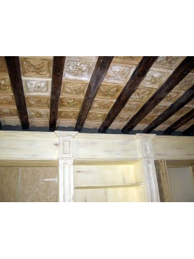 Coffered ceiling from a roman house