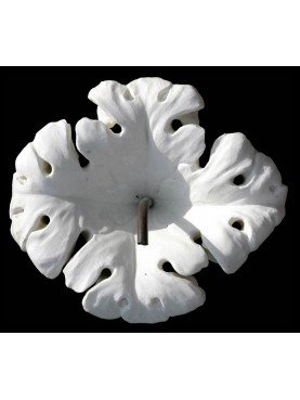 White flower in white Carrara marble