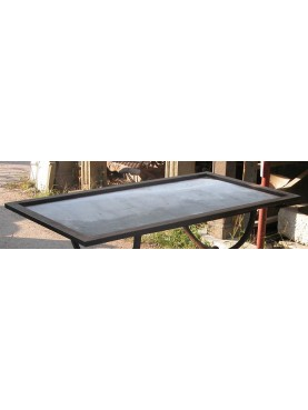 Iron plate for tiles table