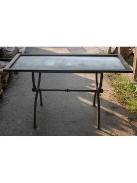 Tavolino a centine con vassoio zincato