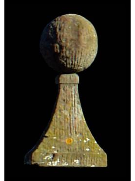 Sfere Ø25cm in pietra serena rigate
