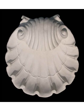 Wall Shell Sconce in plaster
