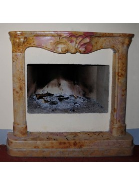 Fireplace in limestone