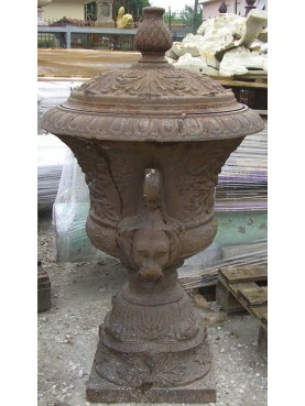 Big cast iron urn