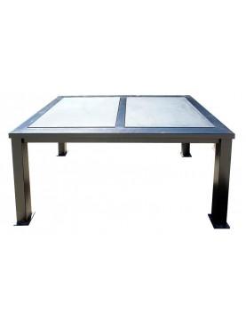 Iron and slate table