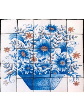 Portugueise flowers panel