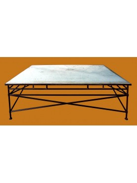 CdB rectangular Table with limestone top