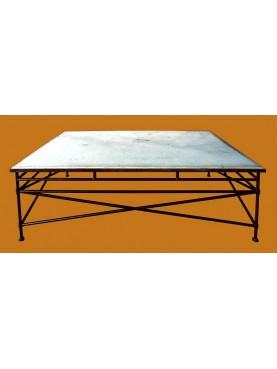 CdB rectangular Table with limestone top