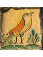 """Riproduzione di piastrella siciliana """"uccellino"""""""