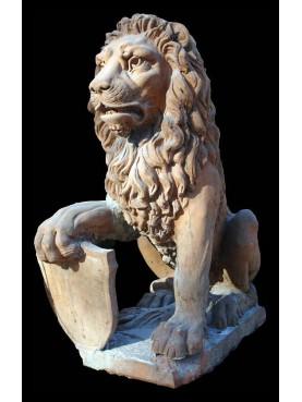 Original terracotta lion