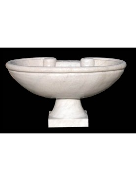 Marble sink with base