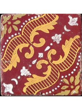 Ancient original majolica tile