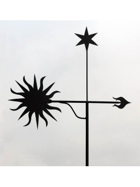Sun vane, polar star and arrow