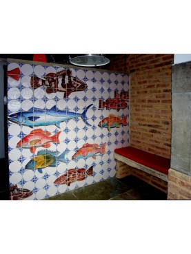 Kitchen with Fish panel