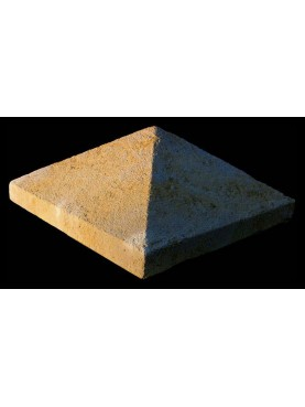 Simple pyramid in limestone