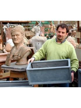 Clay Fiber pot LITTLE size rectangular