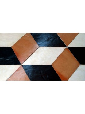 Rhomboid Floor in Terracotta - Slate - Limestone