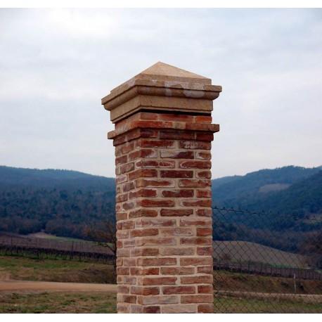 Finali per pilastro di cancello Recuperando