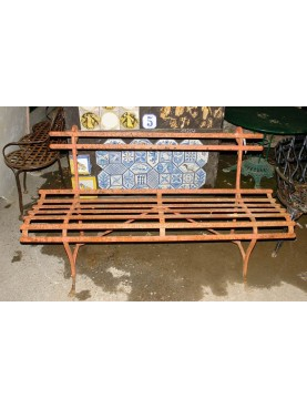 Forged iron bench