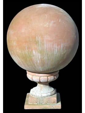 Sfera in terracotta con supporto 26x26 cm