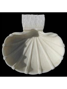 Acquasantiera in marmo bianco statuario