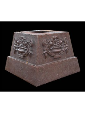 Little cast iron base H.12cms/14x14cms