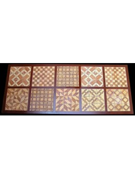 Iron table with 90 majolica tiles