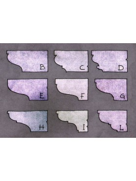 Nove diverse tipologie di mensole IN PIETRA