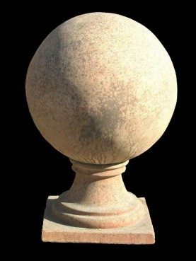 Terracotta spheres with base 45 cms diameter