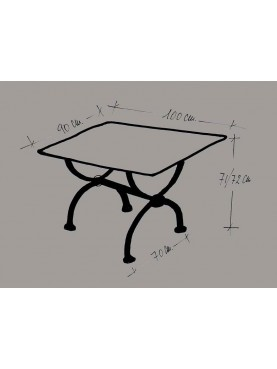 Iron plate table